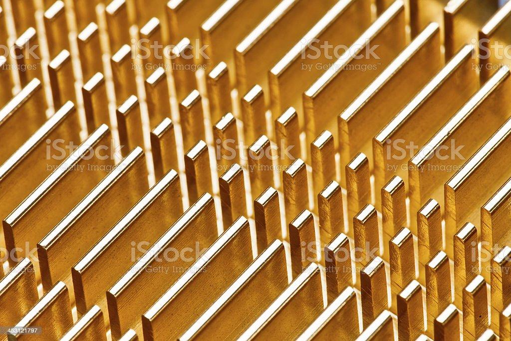 Motherboard Heat sink closeup. royalty-free stock photo