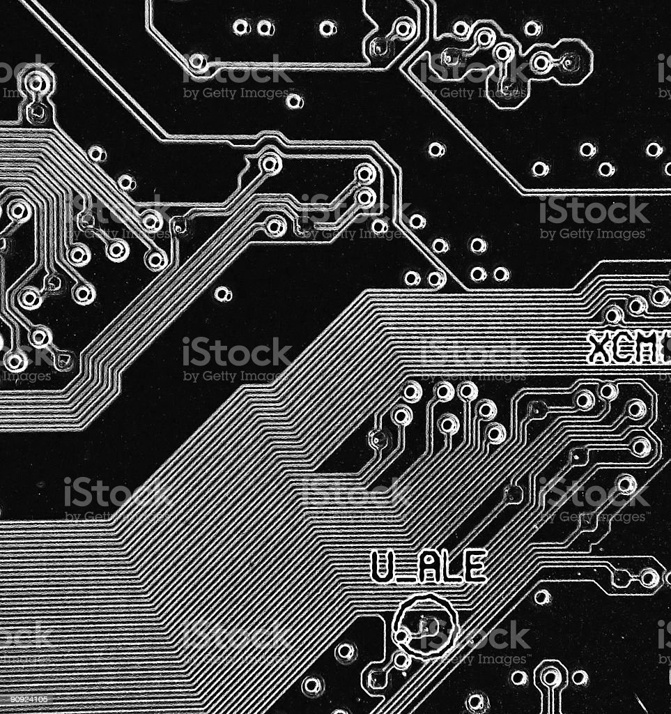 Motherboard Schematics royalty-free stock photo