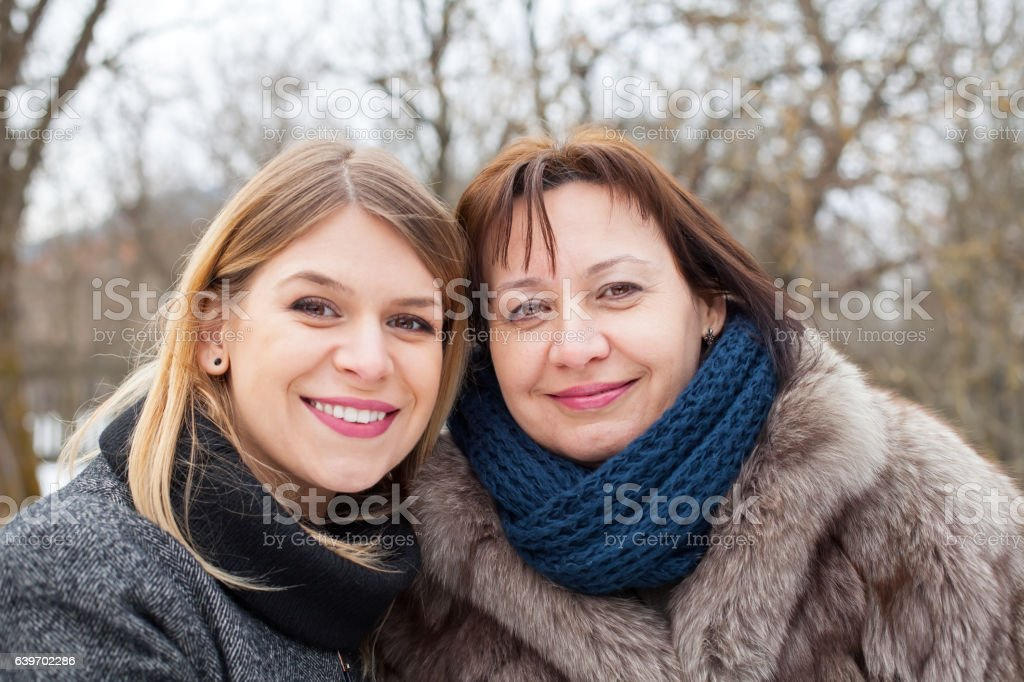 Mother-daughter time stock photo
