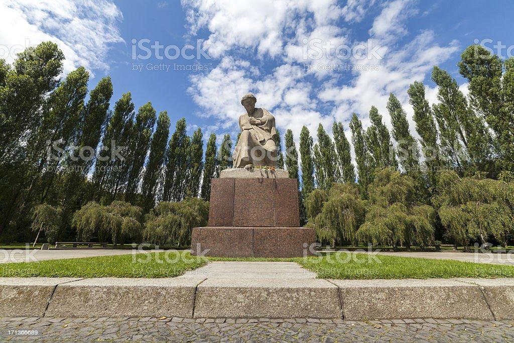 Motherland Statue at Berlin's Treptower Park stock photo