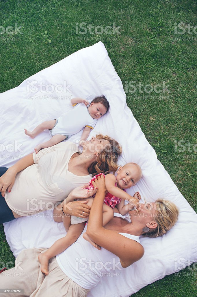 Mothers and babies royalty-free stock photo