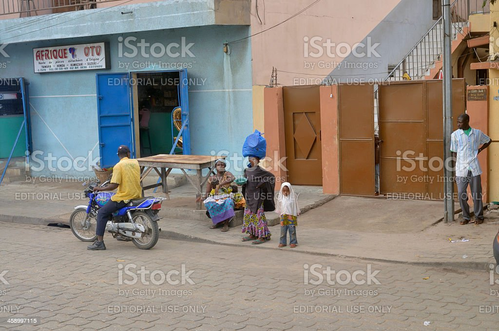 Mothers And Children In Cotonou Benin royalty-free stock photo