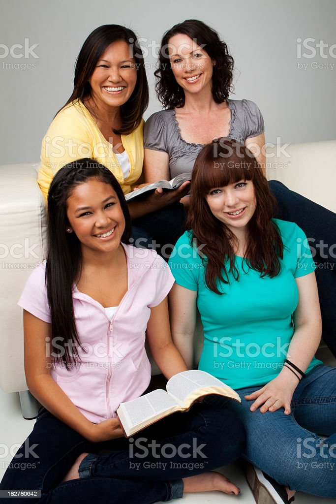 Mothers and Daughters Reading royalty-free stock photo