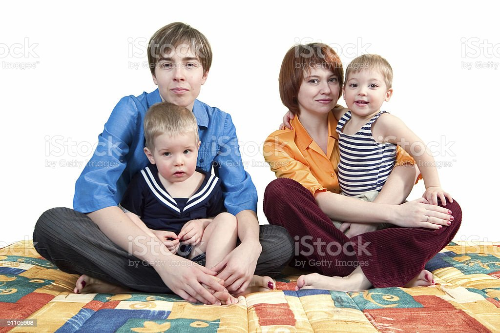 mothers and sons royalty-free stock photo