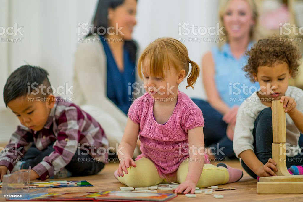 Mothers at a Play Date stock photo