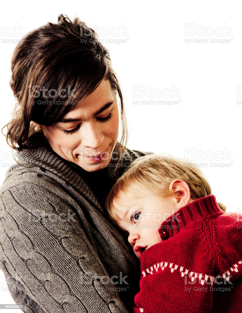 Mother's comfort royalty-free stock photo