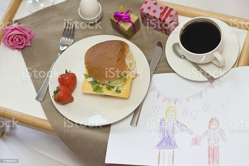 Mother's day breakfast royalty-free stock photo