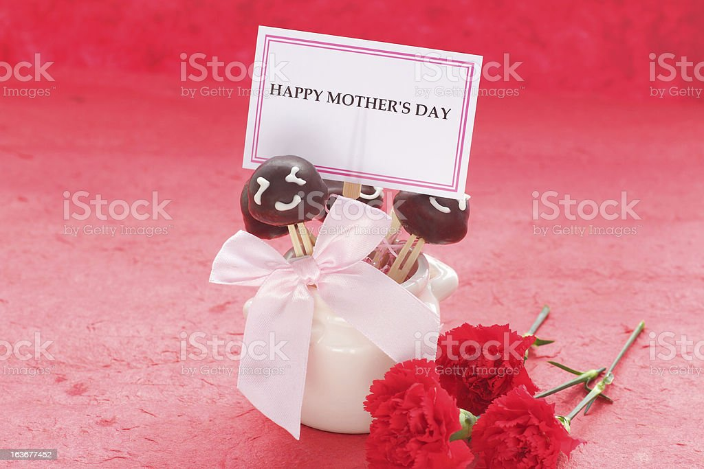 Mother's day cake pops royalty-free stock photo