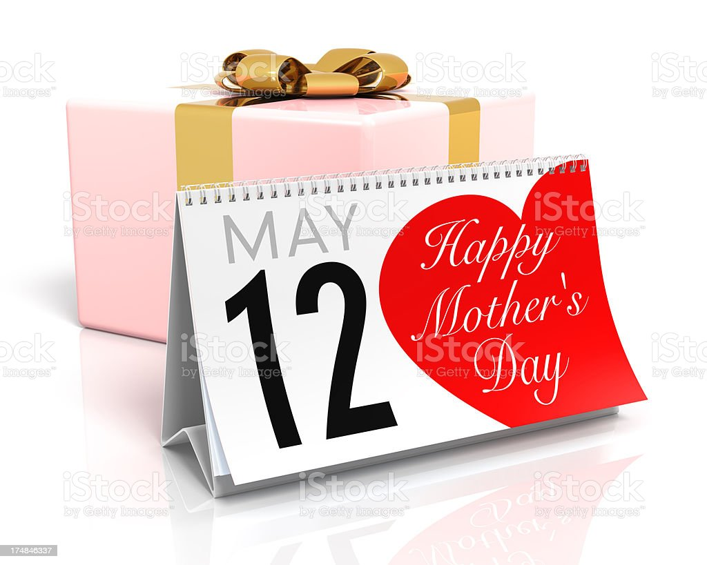Mother's Day Calendar royalty-free stock photo