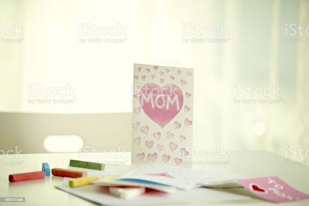 Mother's day card royalty-free stock photo
