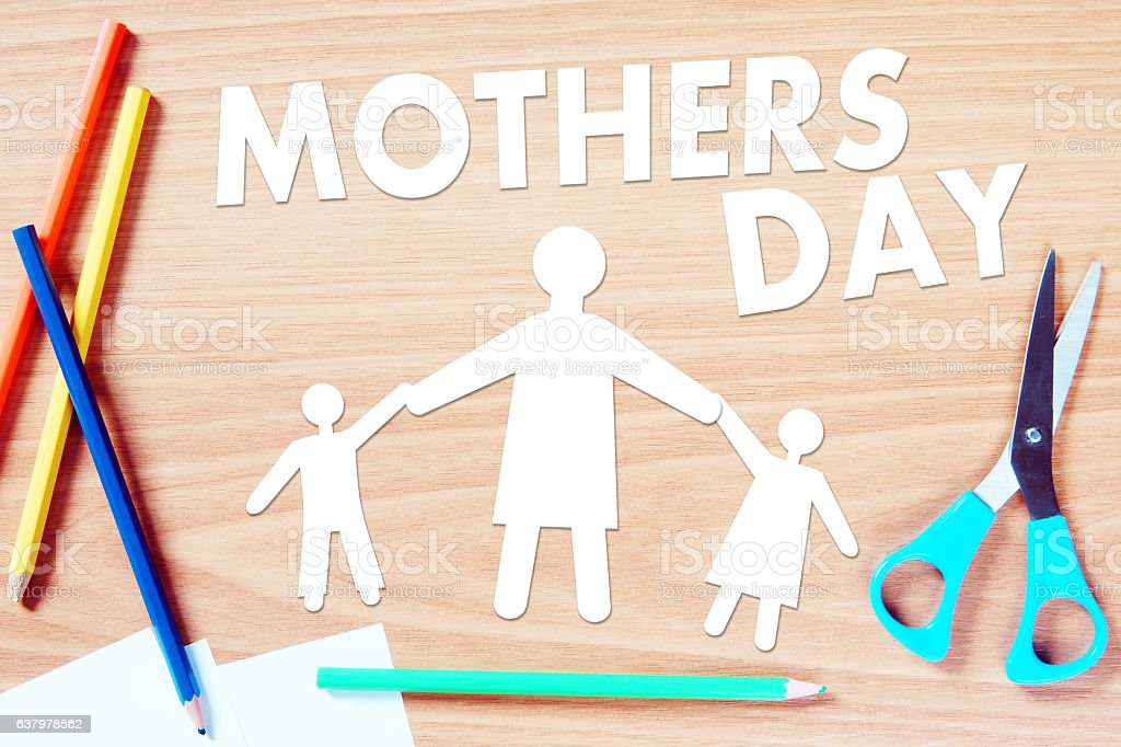 Mothers day congratulation stock photo