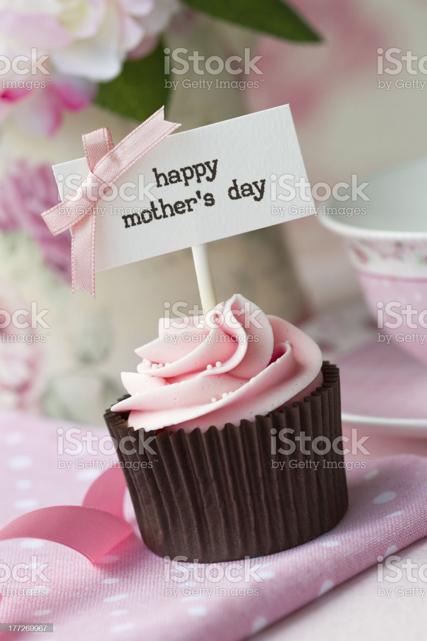 Mother's day cupcake royalty-free stock photo