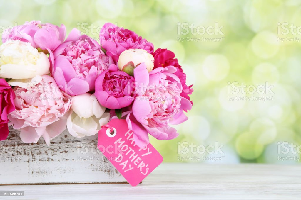 mother's day flowers stock photo