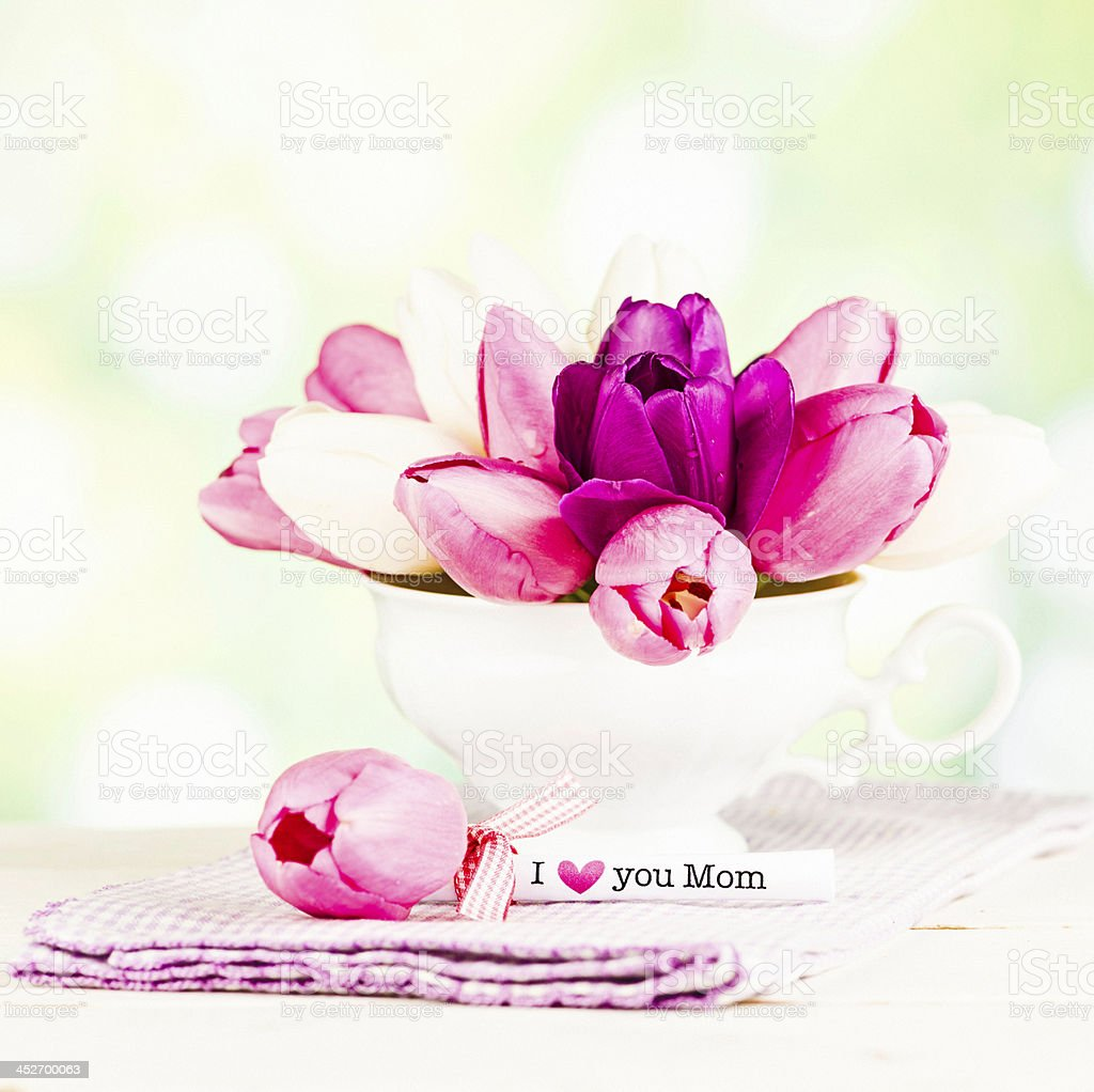 Mother's Day Gift of Flowers royalty-free stock photo