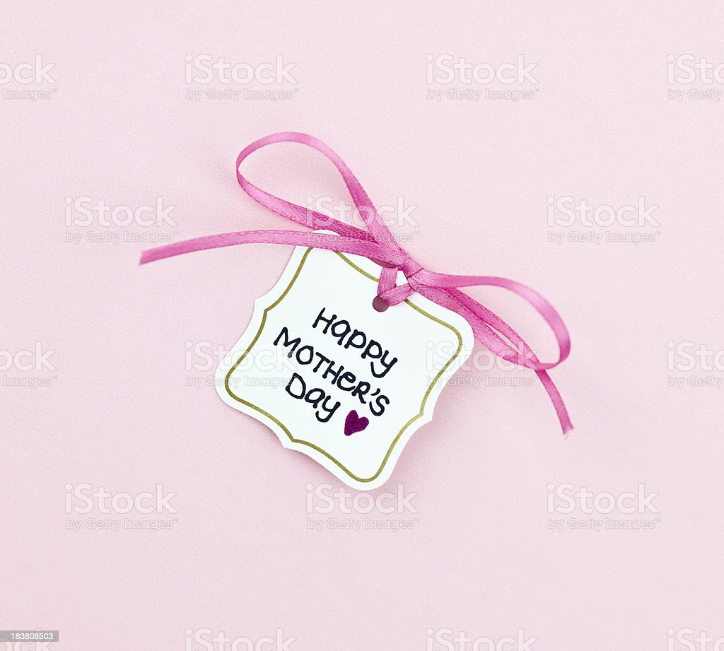 Mother's Day Gift Tag royalty-free stock photo