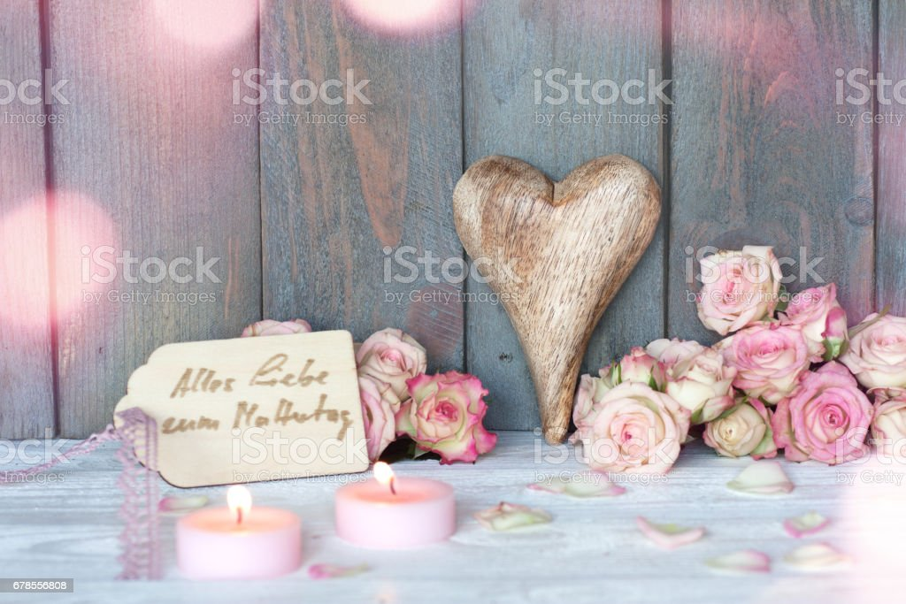 Mothers day greetings in vintage style stock photo