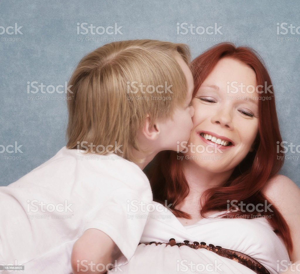 Mother's Day Kiss royalty-free stock photo