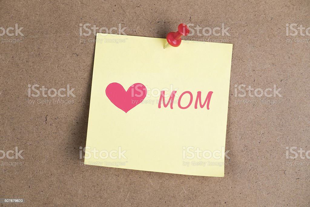 Mother's Day message: i love you stock photo