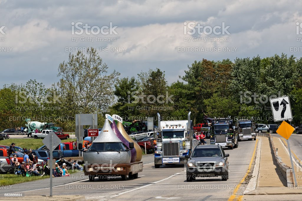 Mothers Day Truck Convoy in Lancaster Pennsylvania stock photo