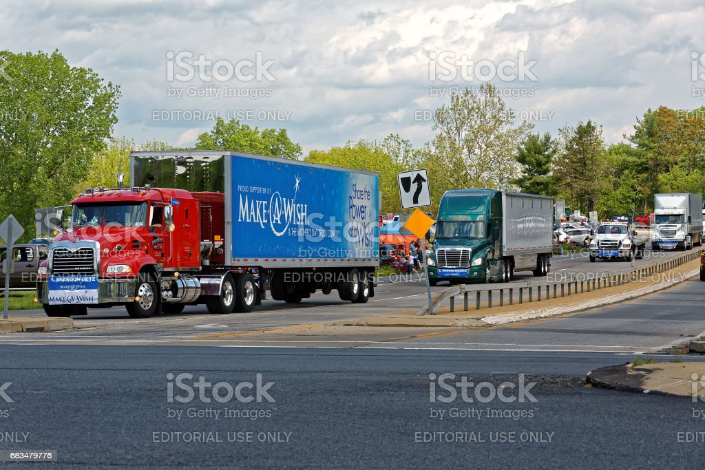 Mothers Day Truck Convoy stock photo