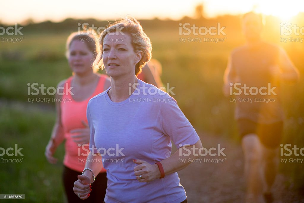 Mother's Exercising Together stock photo