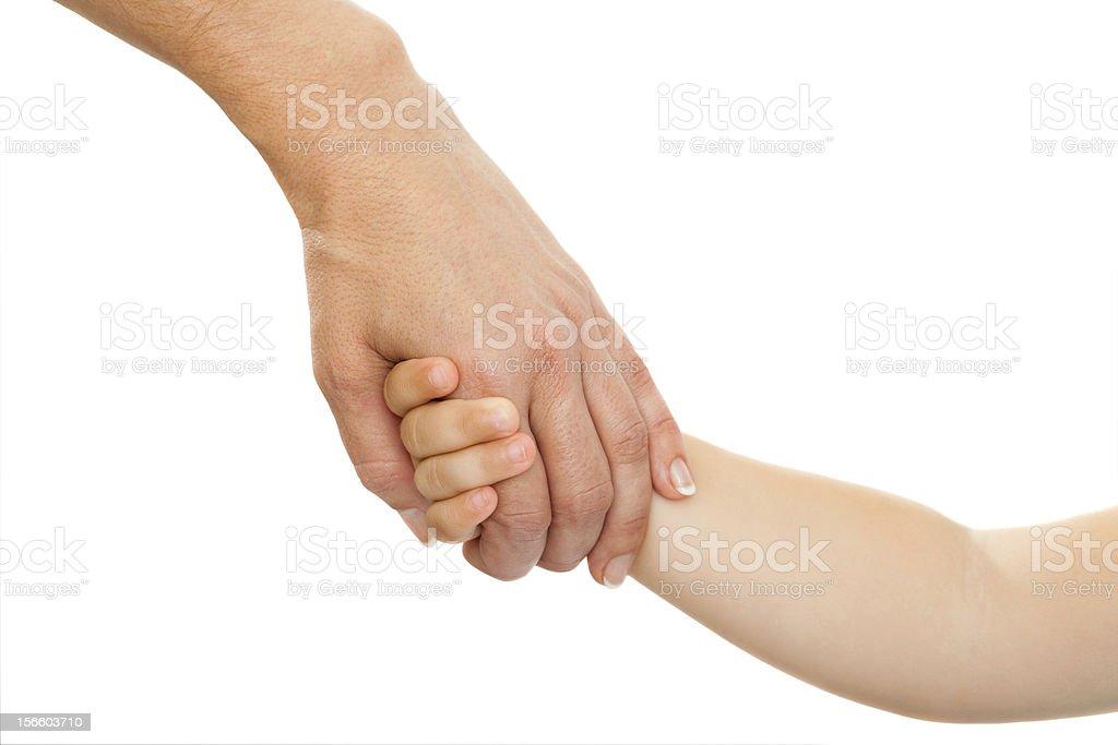 Mères Main tenant la main de bébé. photo libre de droits
