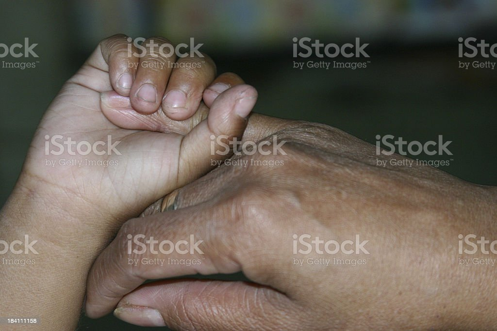 Mother's Hand royalty-free stock photo