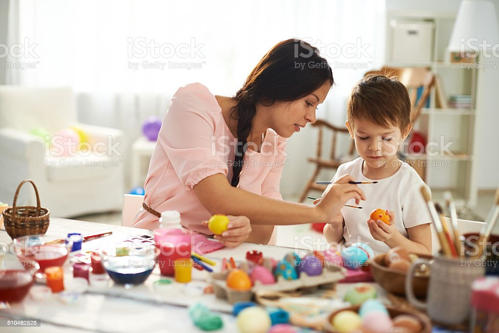 Mother's help stock photo