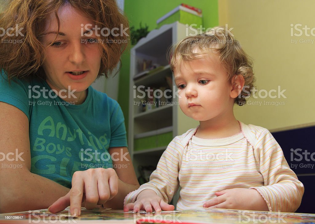 Mother's lesson royalty-free stock photo