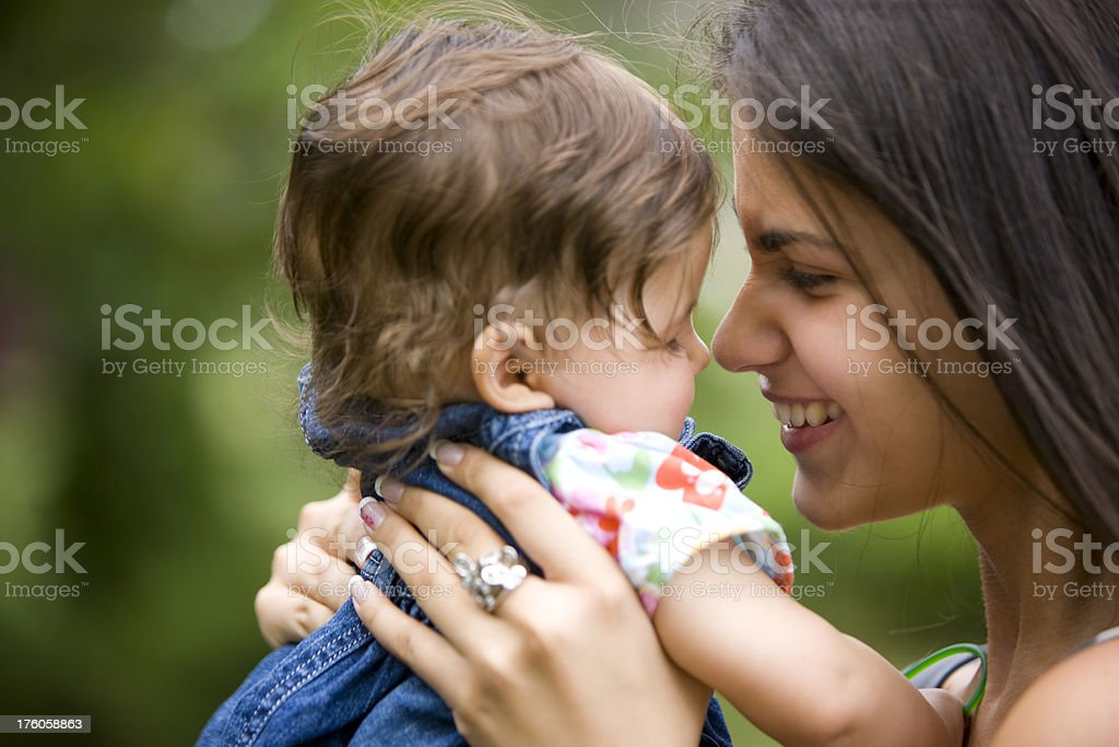 Mothers love stock photo