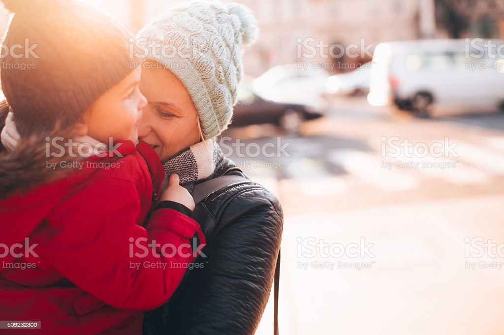 Mother's love stock photo