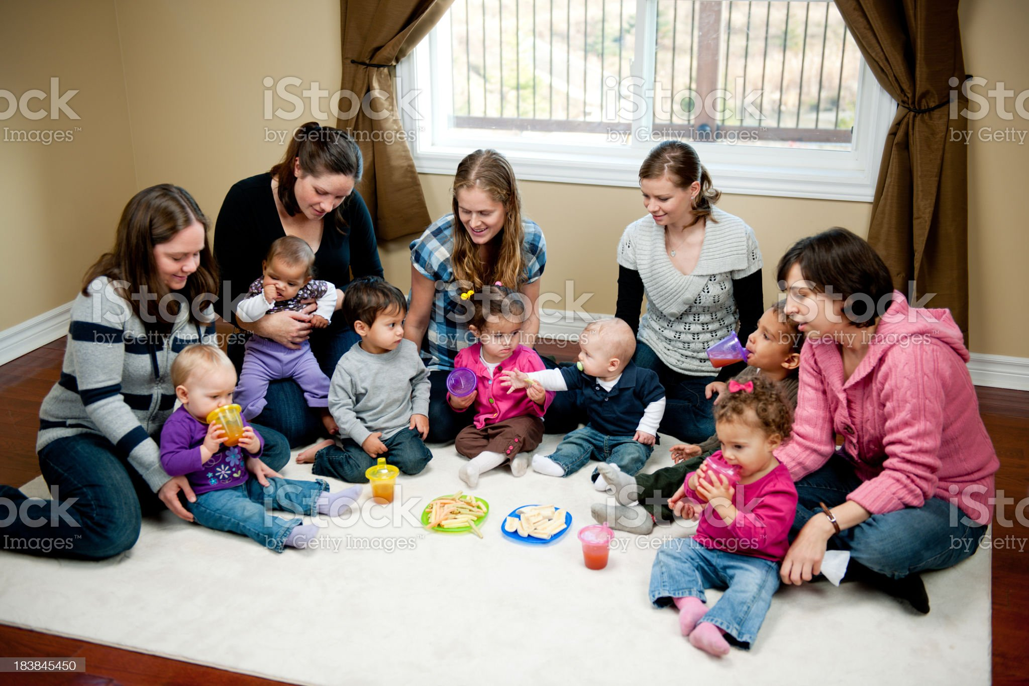 Mothers of preschoolers royalty-free stock photo