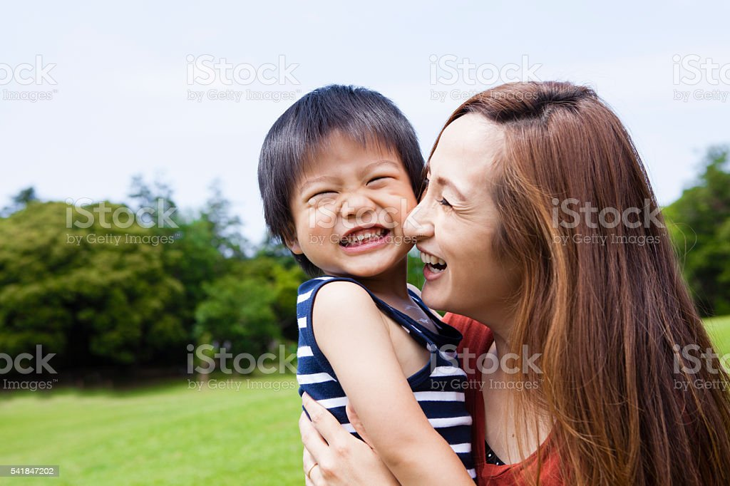 Mothers who have had a child to love press likely stock photo