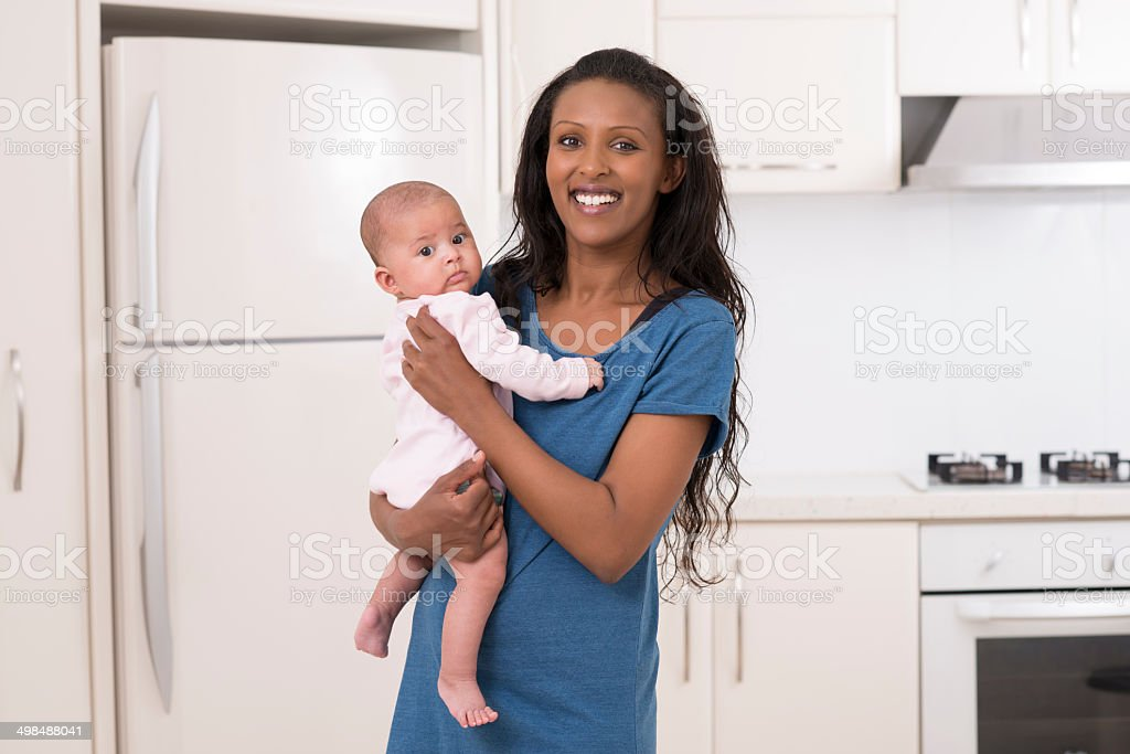 Mothre with her baby. royalty-free stock photo