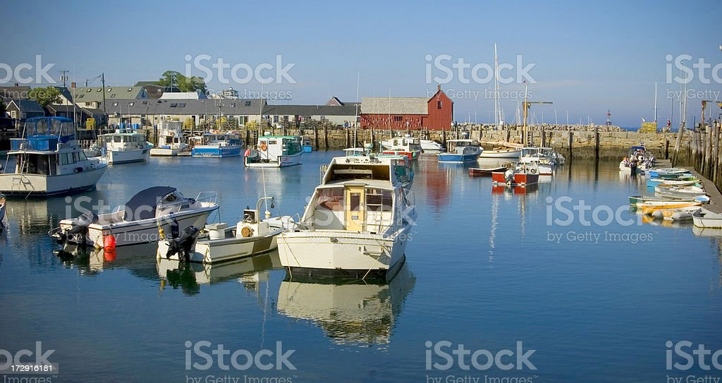Motif #1 and Boats in Harbor. royalty-free stock photo
