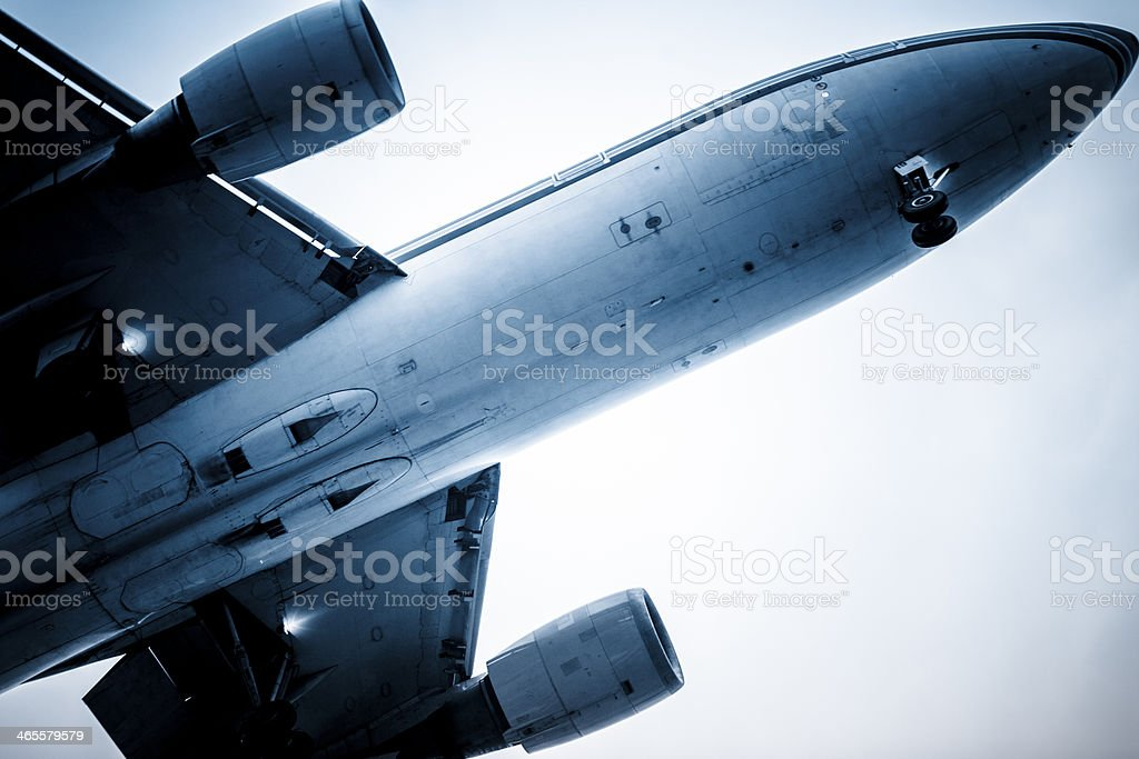 motion airplane royalty-free stock photo
