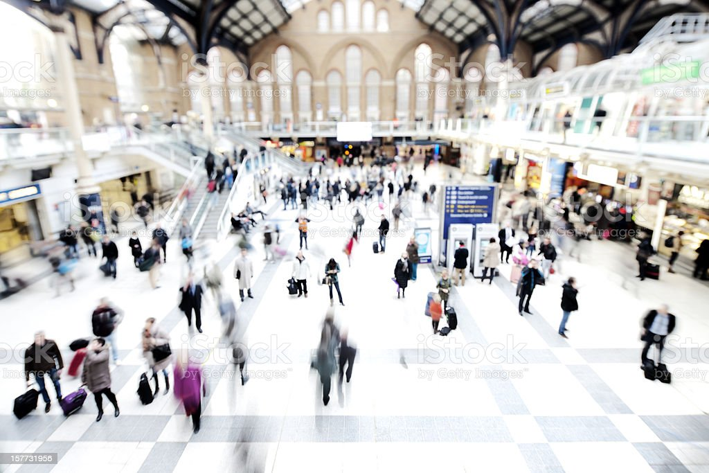 Motion at Liverpool Street Station royalty-free stock photo