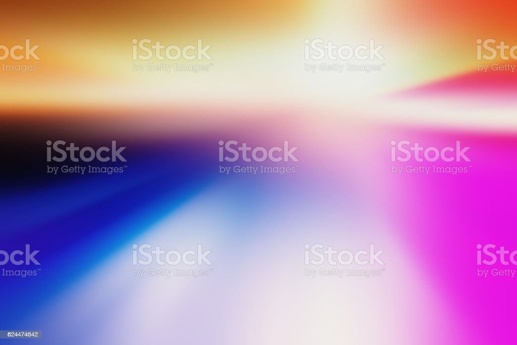 Motion Blur Abstract Background Blue Red Yellow with Bokeh vector art illustration