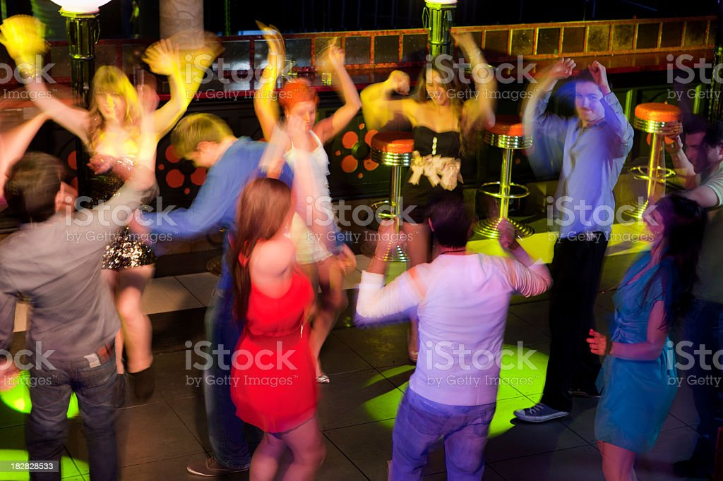 Motion blur disco royalty-free stock photo