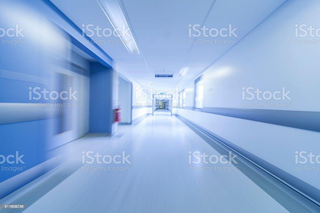 Motion Blur Hospital Corridor stock photo