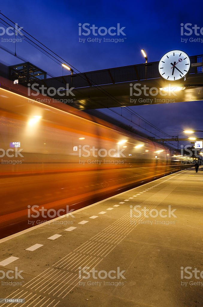Motion blur of a train passing by royalty-free stock photo