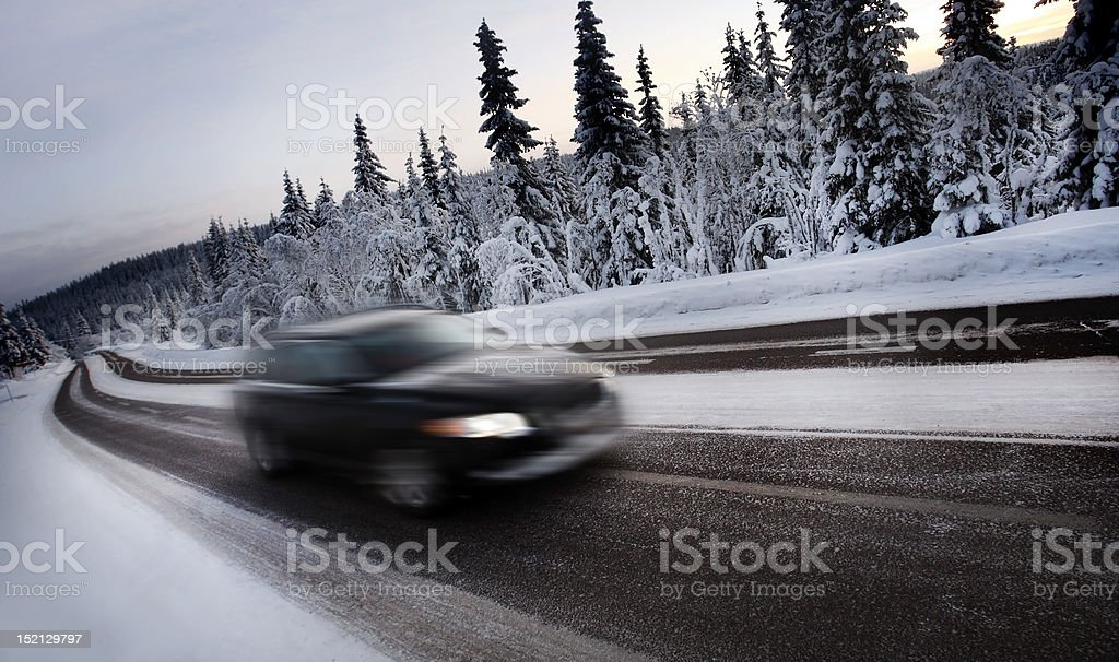 Motion Blur of Car Driving royalty-free stock photo