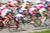 Motion blur of cyclists