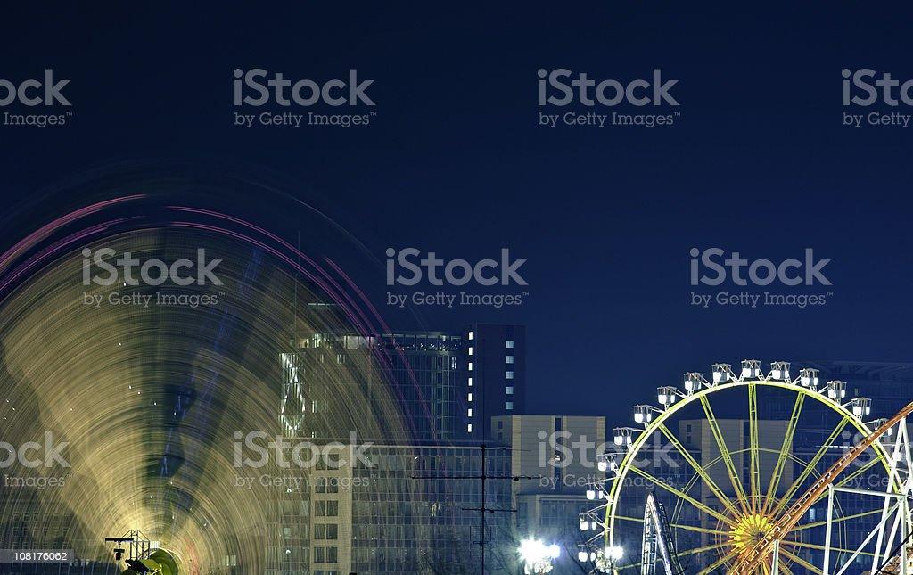 Motion Blur of Ferris Wheel stock photo