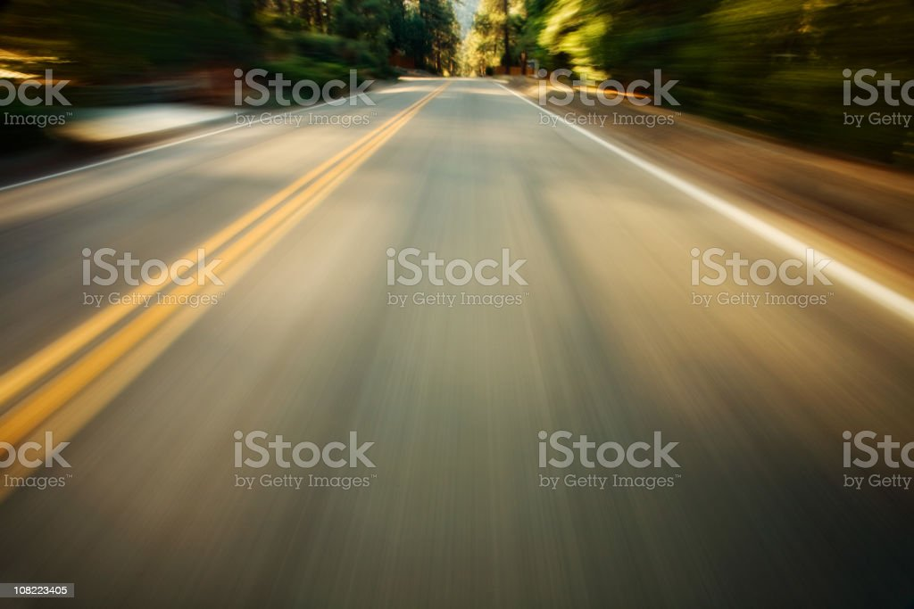Motion Blur of Highway royalty-free stock photo
