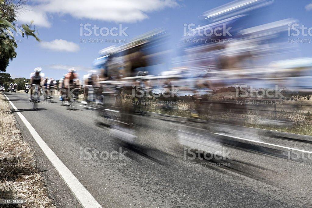 Motion blur of racing bikes royalty-free stock photo