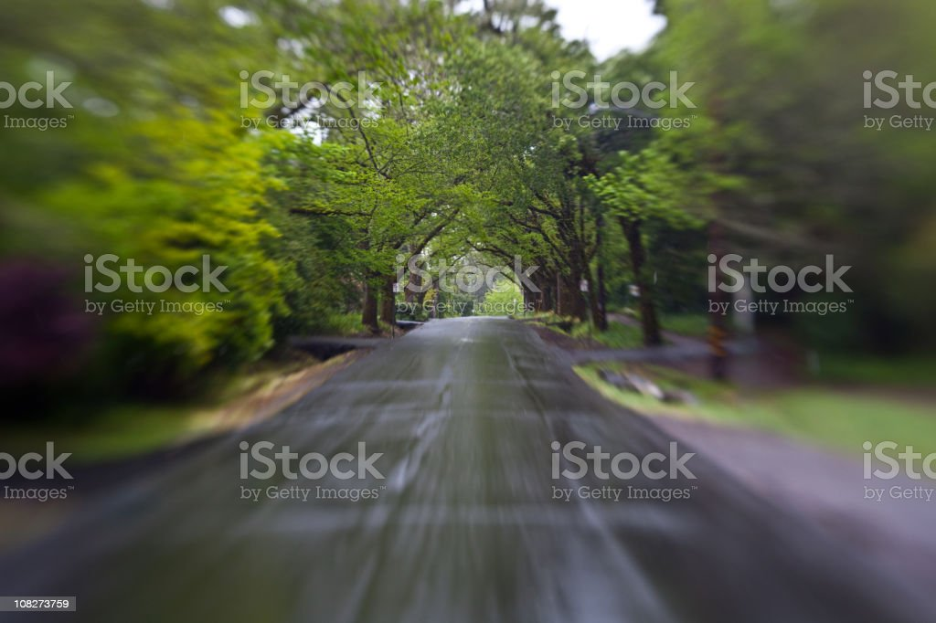 Motion Blur of Road royalty-free stock photo
