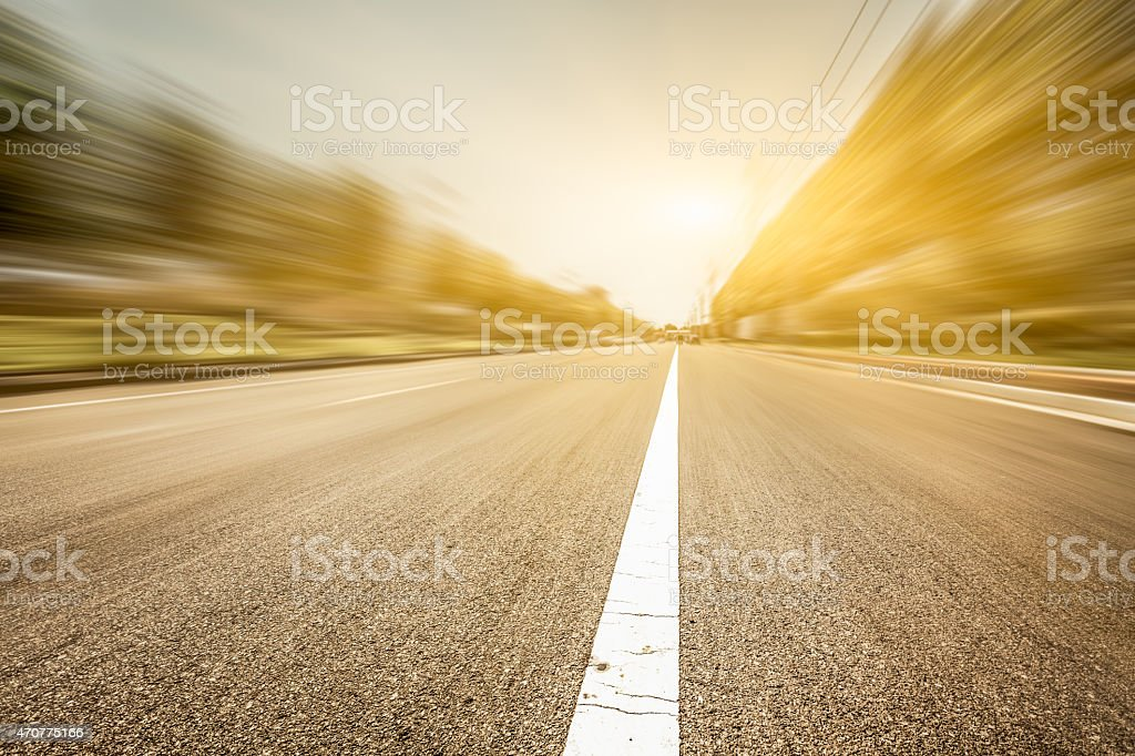 motion blur of the road stock photo