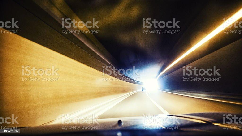 motion blur photo of a speeding car royalty-free stock photo