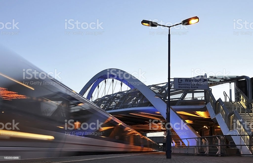 Motion blur picture of a train in London stock photo